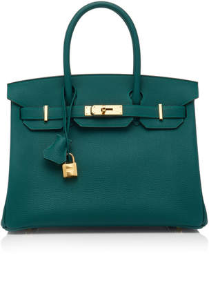 Hermes Heritage Auctions Special Collections 30cm Malachite Togo Leather Birkin