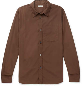 Margaret Howell Cotton-poplin Shirt - Brown