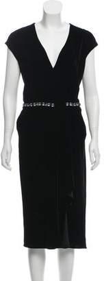 Magaschoni Embellished Velvet Dress