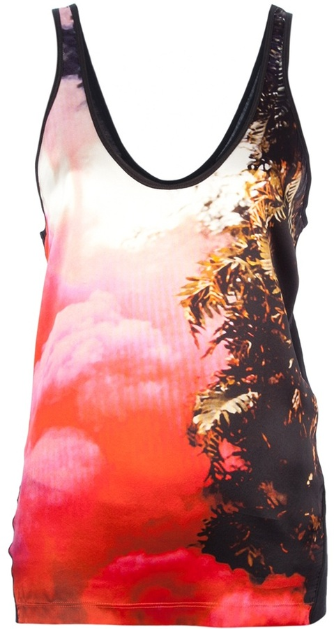 Barbara Bui multi-colour print tank top