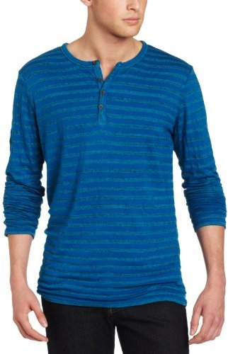 7 For All Mankind Men's Striped Henley
