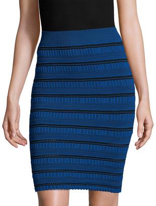 Arc Roby Stripe Pencil Skirt