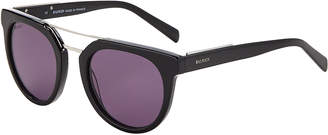Balmain BL2110 Black & Silver-Tone Round Sunglasses