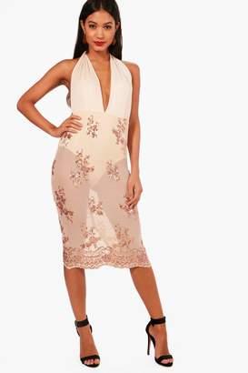 boohoo Boutique Sequin Skater Dress