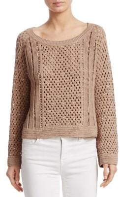 Jonathan Simkhai Pearl Crochet Sweater
