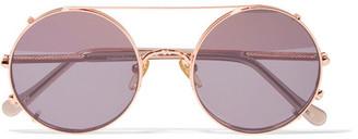 Sunday Somewhere - Valentine Rose Gold-tone Sunglasses - Pink