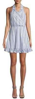 Caroline Constas Nyssa Striped Halter Mini Dress