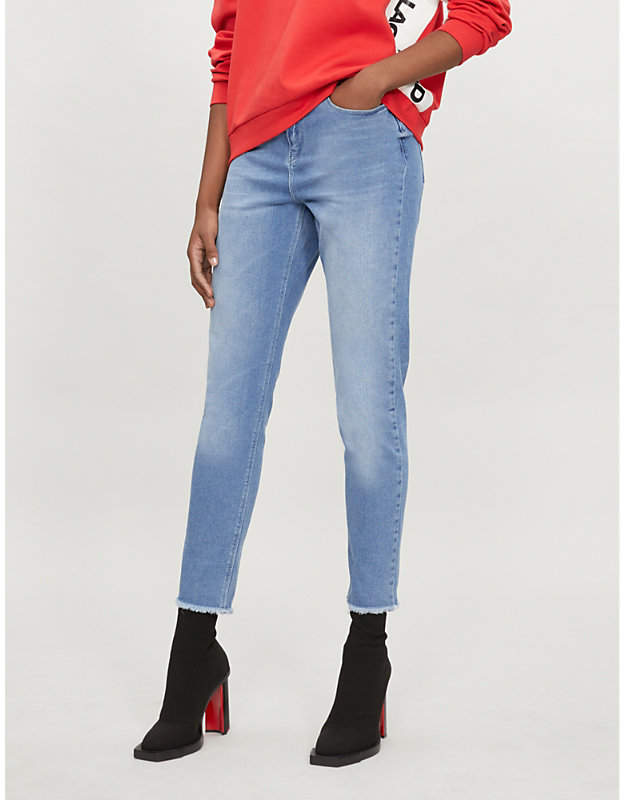 LARGERFELD x KAIA mom-fit tapered high-rise jeans