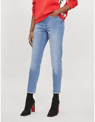 Karl Lagerfeld LARGERFELD x KAIA mom-fit tapered high-rise jeans