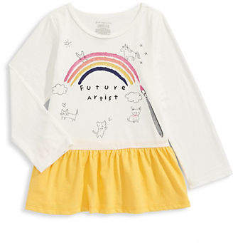 First Impressions Baby Girl's Cotton Peplum Top