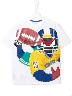 Fendi Rugby printed T-shirt