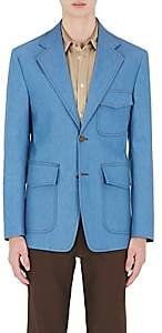Maison Margiela MEN'S DENIM TWO-BUTTON SPORTCOAT - LT. BLUE SIZE 50 EU