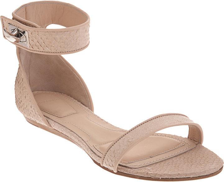 Givenchy Salmon Skin Two-Piece Flat Sandal
