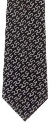 Charvet Abstract Print Silk Tie