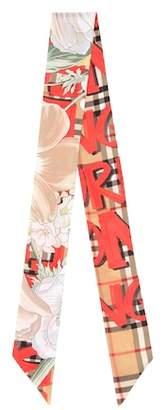 Burberry Graffiti Vintage Check silk scarf