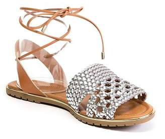 Ramarim Lace-Them-Up Woven Sandal