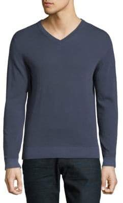 Eleventy V-Neck Cotton Sweater