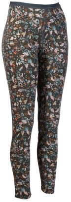 L.L. Bean L.L.Bean Women's Cresta Wool Midweight Base Layer Pants, Print