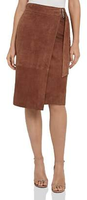 Reiss Milly Suede Wrap Skirt