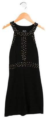 Flowers by Zoe Girls' Embellished Pin-Tuck Dress w/ Tags