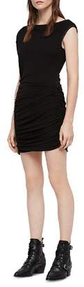 AllSaints Mae Ruched Jersey Dress