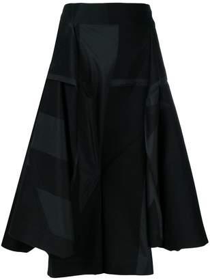 Issey Miyake asymmetric midi skirt