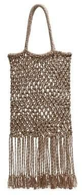 MANGO Violeta BY Braided design bag