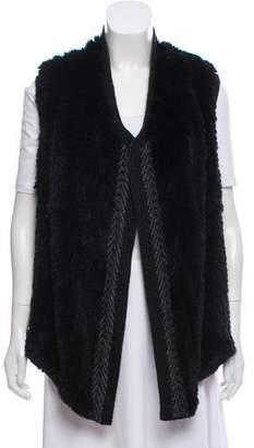 Vince Fur-Accented Knit Vest