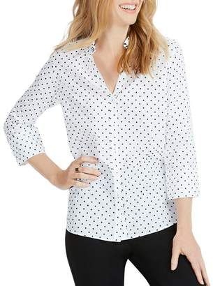 Foxcroft Mary Star Button-Down Shirt