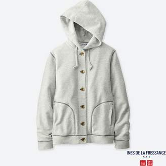 Uniqlo WOMEN IDLF French Terry Long Sleeve Hooded Jacket