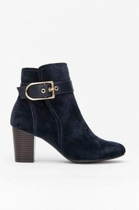 Wallis Navy Belt Buckle Ankle Boot