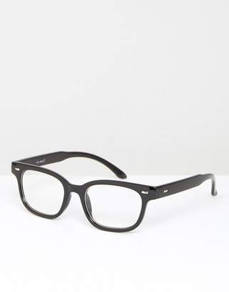 AJ Morgan Rectangular Clear Lens Glasses in Black $24 thestylecure.com