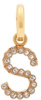 Burberry S Crystal Embellished Letter Charm - Womens - Crystal
