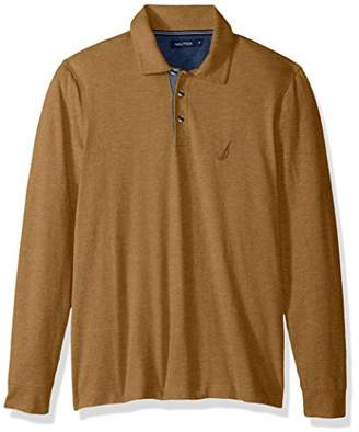 Nautica Men's Long Sleeve Solid Polo Shirt