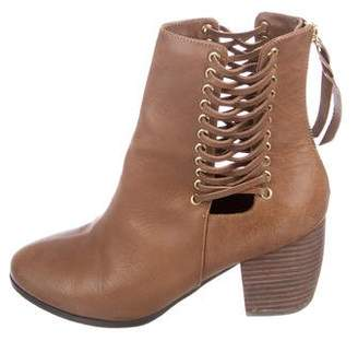 Cynthia Vincent Leather Ankle Boots