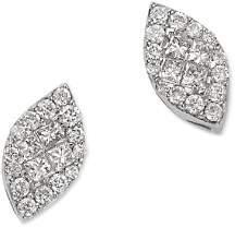 Bloomingdale's Princess-Cut Diamond & Pavé Marquis Stud Earrings in 14K White Gold, 0.35 ct. t.w. - 100% Exclusive