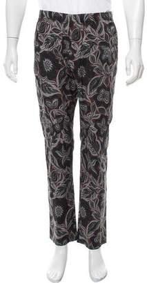 Dries Van Noten Floral Print Woven Pants