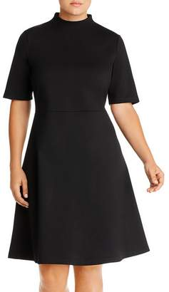 AQUA Curve Mock-Neck Dress - 100% Exclusive