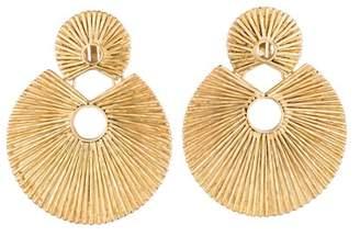 Josie Natori 24K Gold Plated Brass Double Disc Earrings