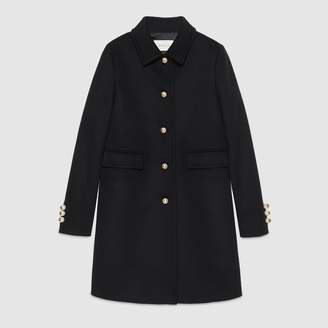 Gucci Single-breasted wool coat
