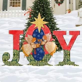 The Holiday Aisle Joy Angel Yard Lawn Art