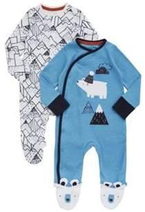 2 Pack of Polar Bear Sleepsuits
