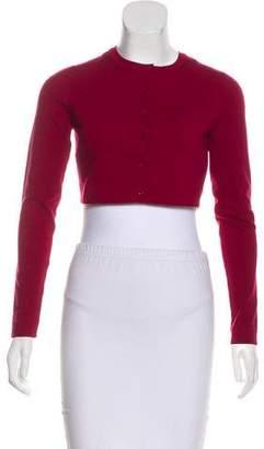 Alaia Crop Wool Cardigan