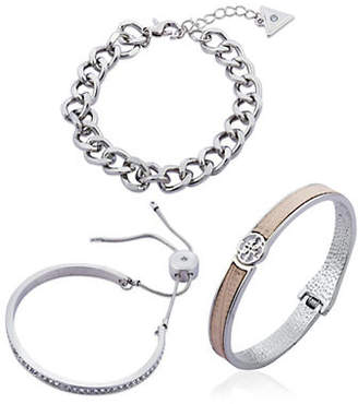 GUESS Three-Piece Crystal Bracelet