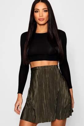 boohoo Pleated Skater Skirt