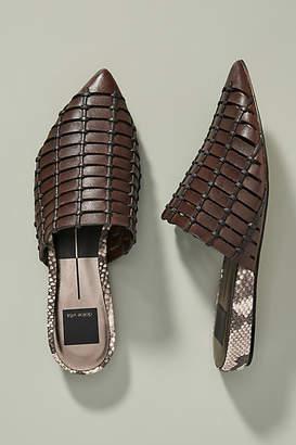 Dolce Vita Elina Woven Leather Slides