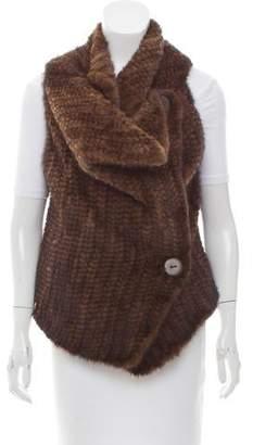 Adrienne Landau Knit Mink Fur Vest