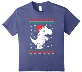 Dinosaur Christmas T-Shirt T REX Funny Grumpy Santa Shirt