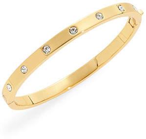 Kate Spade Goldtone Stone Hinged Bracelet