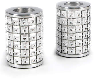 Mackenzie Childs Studded Silver Candle Holders, Set of 3